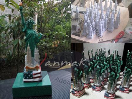membuat-miniatur-patung-liberty