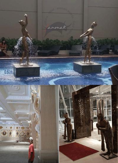 patung-interior-dan-kolam-renang-hotel